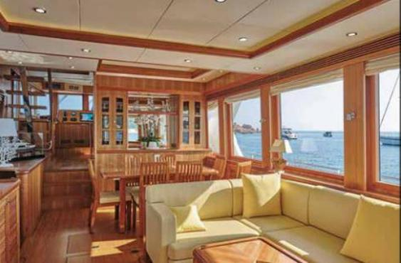 Salon grands vitrages Selene 72 Ocean Explorer - Trawlers Yachting